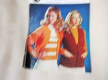 VINTAGE ORIGINAL KNITTING & CROCHET PATTERN LOTUS 1016 JACKET CARDIGAN & WAISTCT